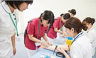 看護技術研修 4月~8月のイメージ図